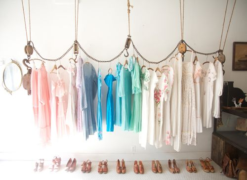 Fashion Week fashion week NYC clothes hanging LOVE PASTELS!