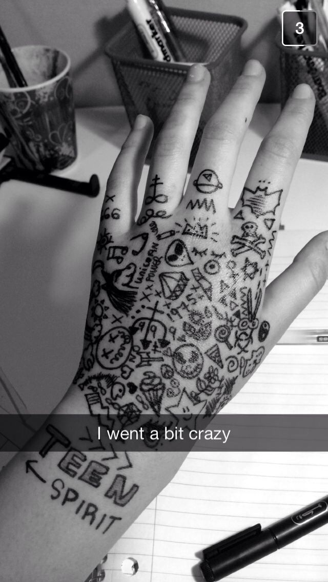 Lol she filled up her whole hand