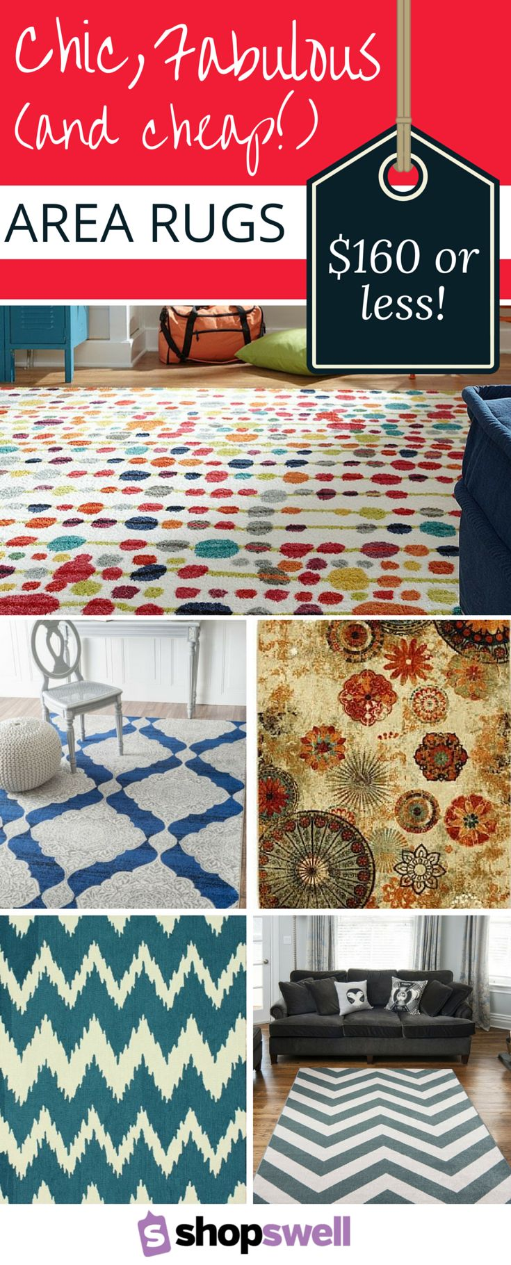 Chic And Cheap Area Rugs For The Living Room Or Bedroom Thankfully With These