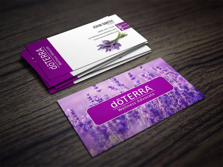 Doterra Business Card in LAVENDAR