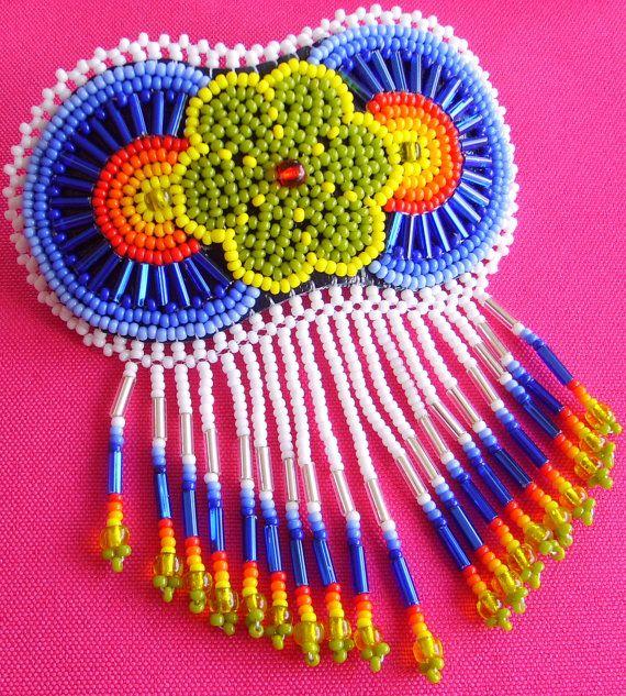 Mexican Huichol Beaded Peyote Hair clip