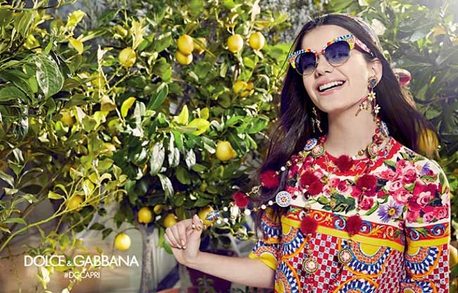Sonia Ben Ammar Stars in Dolce Gabbana SS 2017 Sunglasses. Photo Franco Pagetti …