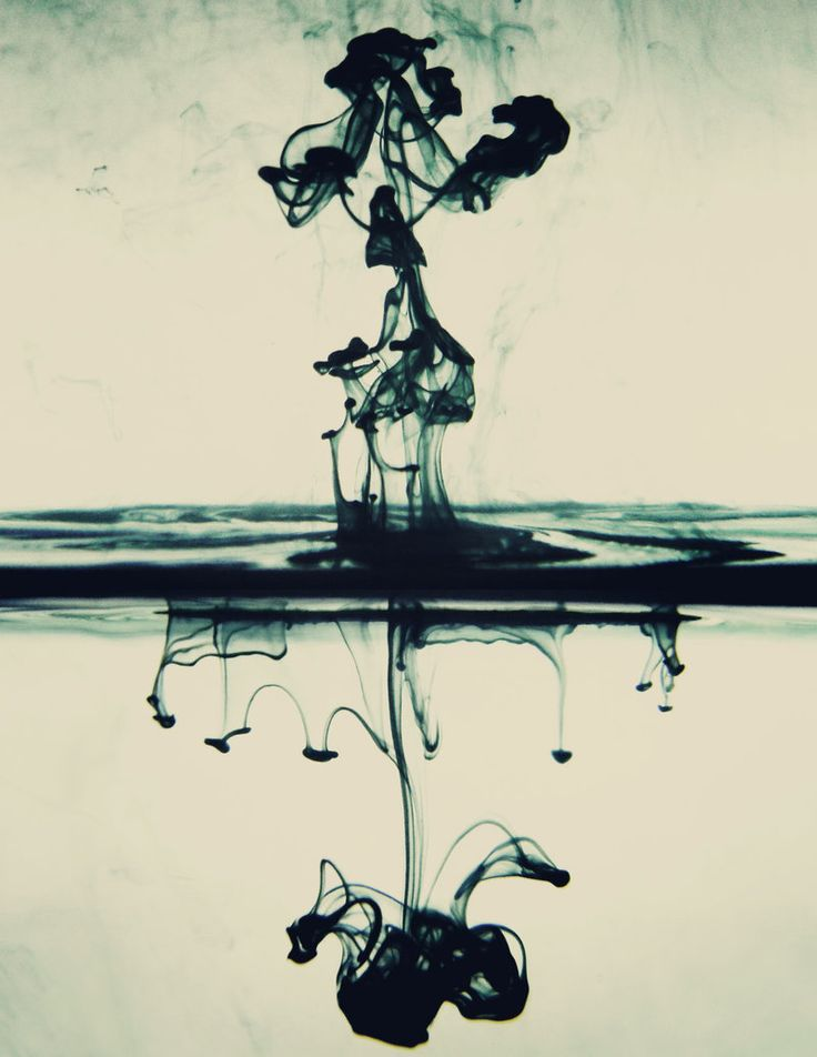 there's something I've always loved about the randomness of ink/water...