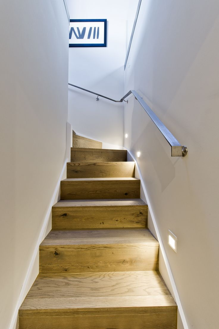 Don't forget that lighting on your stairs can make all the difference. From our contemporary factory conversion duplex in London's Southbank. See more of our work at http://www.janeclayton.co.uk/design-service/
