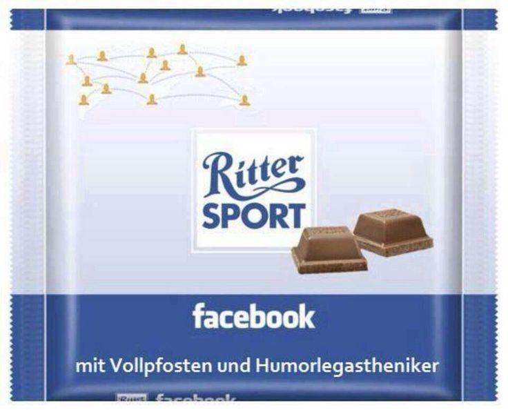 Ritter Sport facebook mit Vollpfosten und Humorlegastheniker