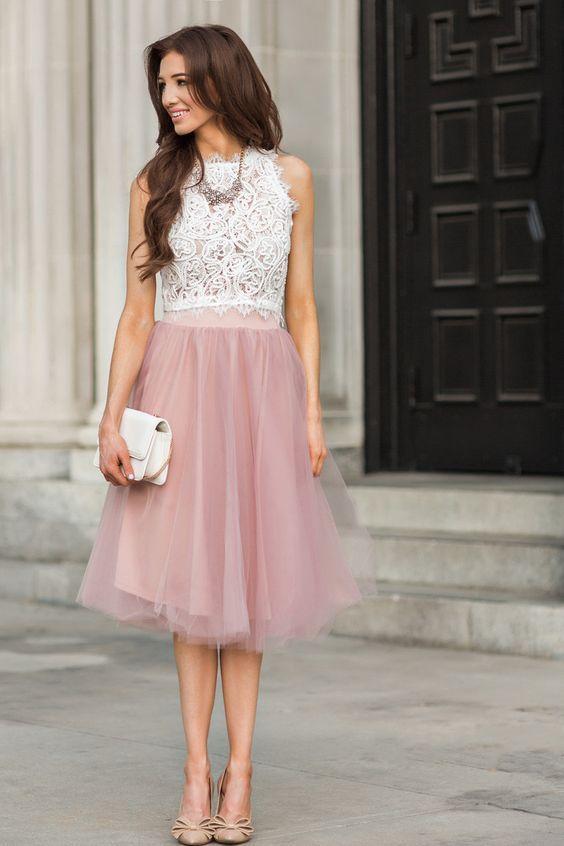 Eloise Dusty Rose Tulle Midi Skirt