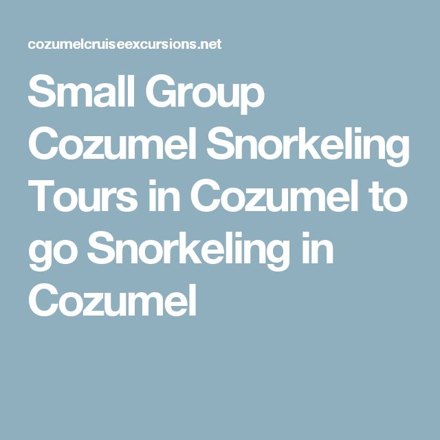 Small Group Cozumel Snorkeling Tours in Cozumel to go Snorkeling in Cozumel