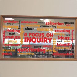 A Focus on Inquiry Vinyl Lettering Word Wall