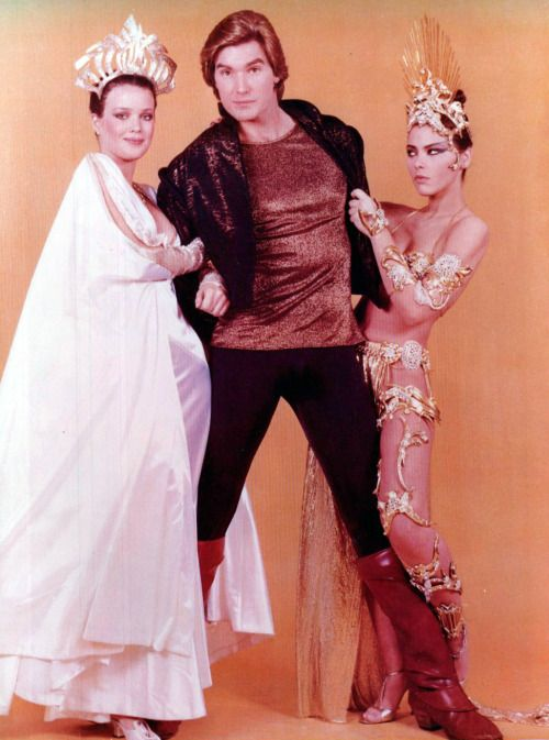 Flash Gordon 1980 - Ornella Muti as Princess Aura - Melody Anderson as Dale Arden and Sam J Jones as Flash Gordon