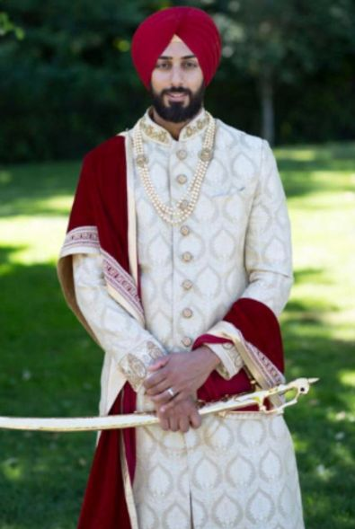 Our client Subeg is the epitome of royalty in his #Wellgroomedinc designed sherwani for his wedding ceremony!✨ Our grooms are on the top of our priority list and we like to ensure not only that they are getting a piece that fits their personal style but also is extremely comfortable to wear! All of our pieces can be customized to meet your personal style (fit, colour, fabric etc) Email us at sales@wellgroomed.ca to set up a consultation.