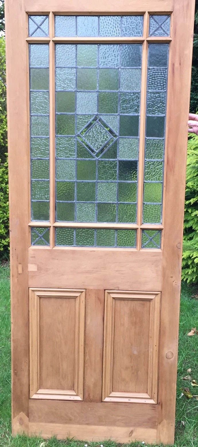 Handmade Bespoke Internal Door Clear Glass Beautiful Solid Wood Stunning