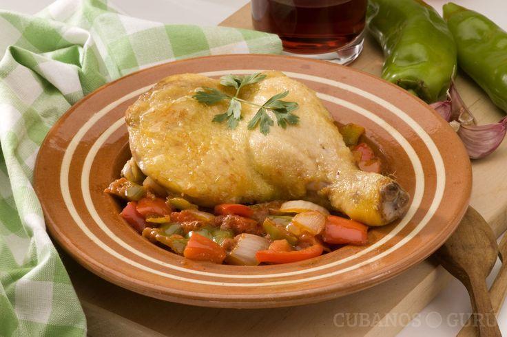 Receta: Chilindrón de pollo #pollo #chilindrón #España #comida #carne http://www.cubanos.guru/receta-chilindron-de-pollo/