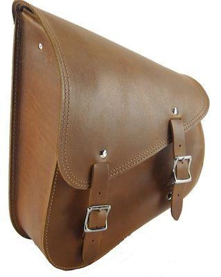 Ledrie: sacoche marron pour votre Harley Davidson Softail. - Accessoires - Bagages - Harley-Davidson - Sacoche - Softail - Caradisiac Moto - Caradisiac.com