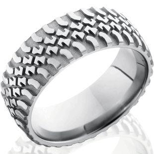 Titanium Tire Tread Ring - Ultimate Tire Rings for Men by Titanium-Buzz!