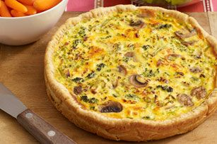 VELVETTA Egg & Veggie Bake --Every bite of our creamy, cheesy breakfast delight is bursting with mushroom-broccoli goodness. Tangy dressing and a pie crust whip up the excitement even more.