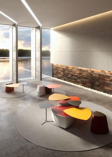 Kensho pouf – Kastel - Sedute per ufficio, comunitá e casa. Sedie, tavoli e sgabelli dal design e comfort ricercati.