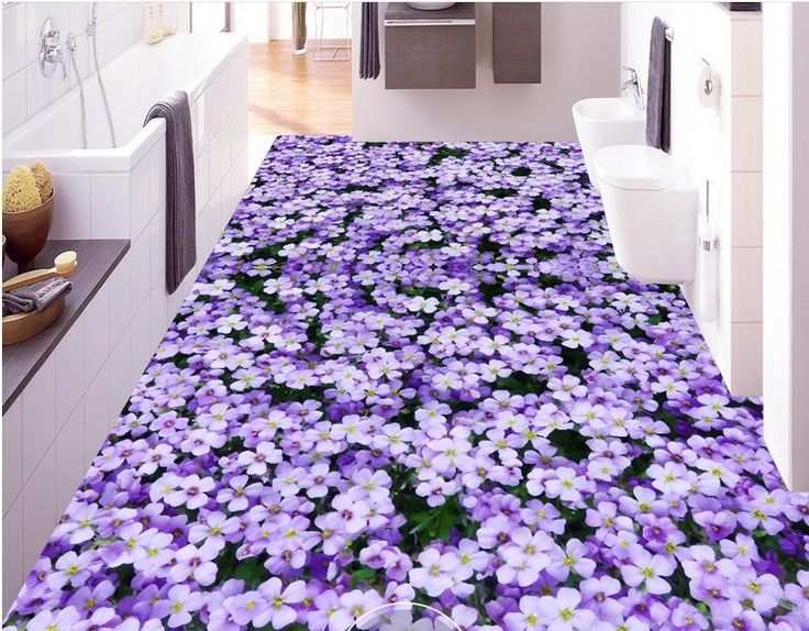 29.01$  Watch here - http://ali5mu.shopchina.info/1/go.php?t=32742549031 - pvc flooring adhesive custom 3d floor photo wallpaper Purple flowers 3d mural pvc floor wallpapers for living room  #buyininternet