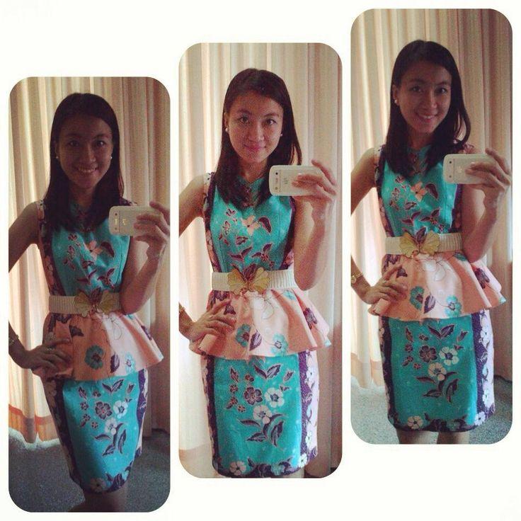 sweet batik , kanaya peplum dress we love pic courtesy by : Inke Juliet Tandry