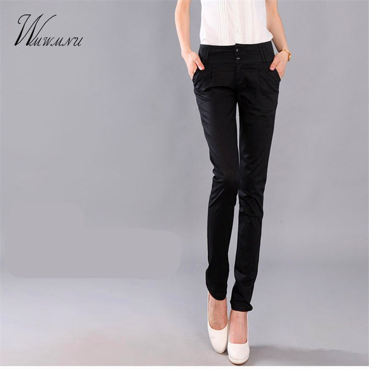 Trousers With Pockets Women 2017 Autumn Casual OL Formal Pants Women Elegant Office Straight Work Wear Full Length Pant ss004 #CLICK! #clothing, #shoes, #jewelry, #women, #men, #hats, #watches