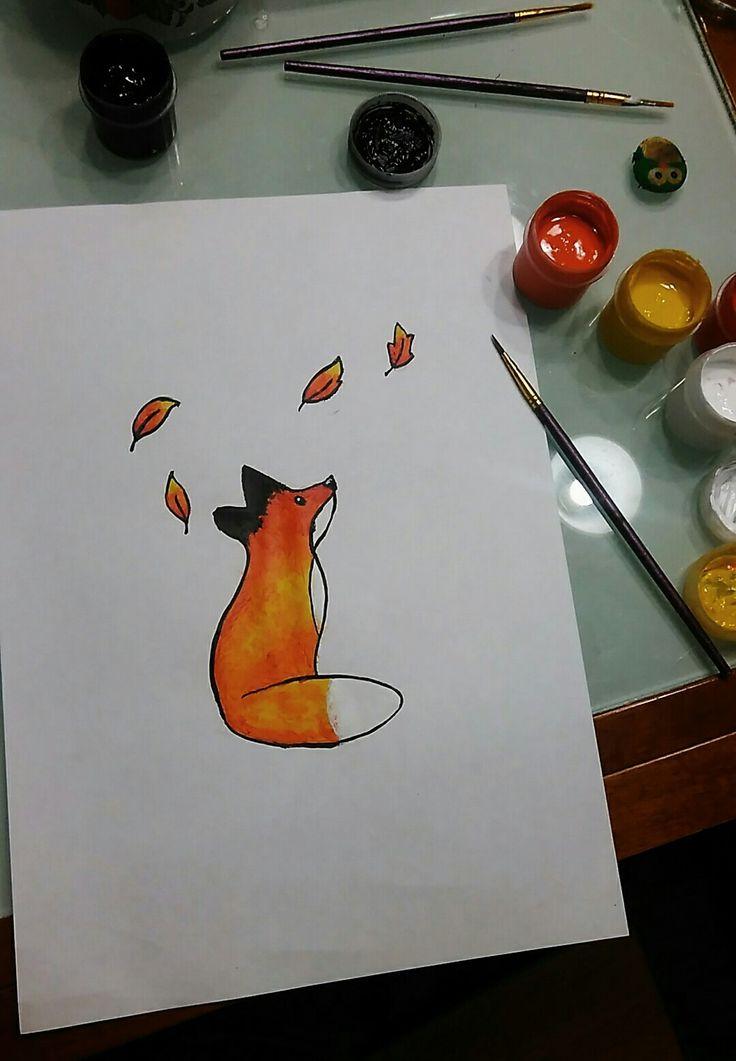 Мой рисунок лиса Ключевые слова: лис, лисенок, мило, красиво, краски, кисть, кисточка, симпатично, листья, хвост, уши, ушки, хвостик, нос, носик, блик, оранжевый.