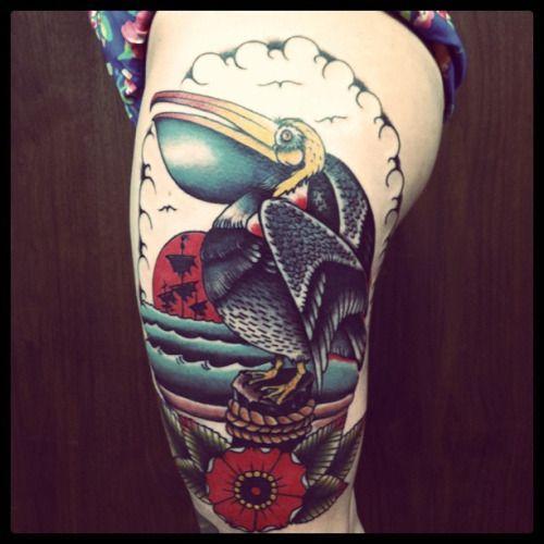 pelican tattoo.