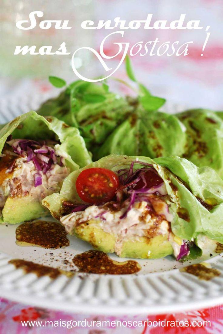 Fazer um wrapsem carboidratos e glutené posivel se você troca o pão para folhas verdes! Se você pula o queijo,vai sersem lactose também. Fica como uma salada enrolada, super fresquinho e gosto…