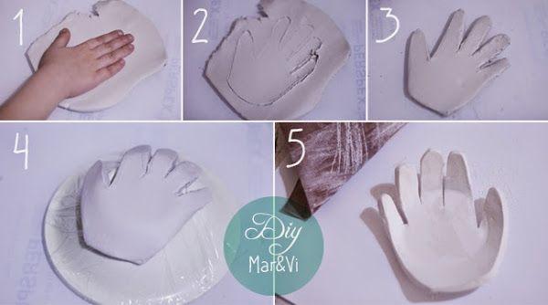 Regalos Día de la Madre, cuenco con la huella de la mano   Aprender manualidades es facilisimo.com