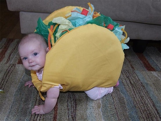 Taco Baby. The one that started it all.: Baby Tacos, Baby Halloween Costume, Mr. Tacos, First Halloween, Tacos Baby, Baby Costume, Kids, Costume Idea, Halloweencostum
