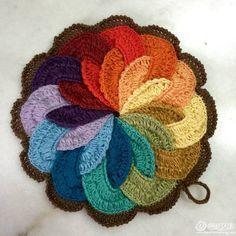 agarraderas tejidas al crochet pavo real - Buscar con Google
