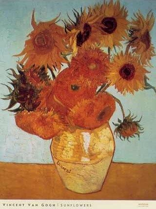 Sunflowers Vincent Van Gogh #impressionism