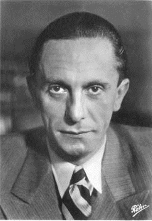 """Paul Joseph Goebbels (29 October 1897 – 1 May 1945) was a German politician and Reich Minister of Propaganda in Nazi Germany from 1933 to 1945. As one of Adolf Hitler's closest associates and most devoted followers, he was known for his zealous orations and deep and virulent antisemitism, which led to his strongly supporting the extermination of the Jews when the Nazi leadership developed their """"Final Solution""""."""