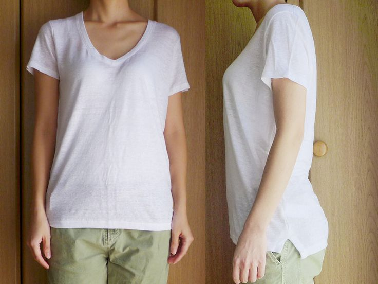 綿とは違う抜け感がかなうGAPリネンTシャツ