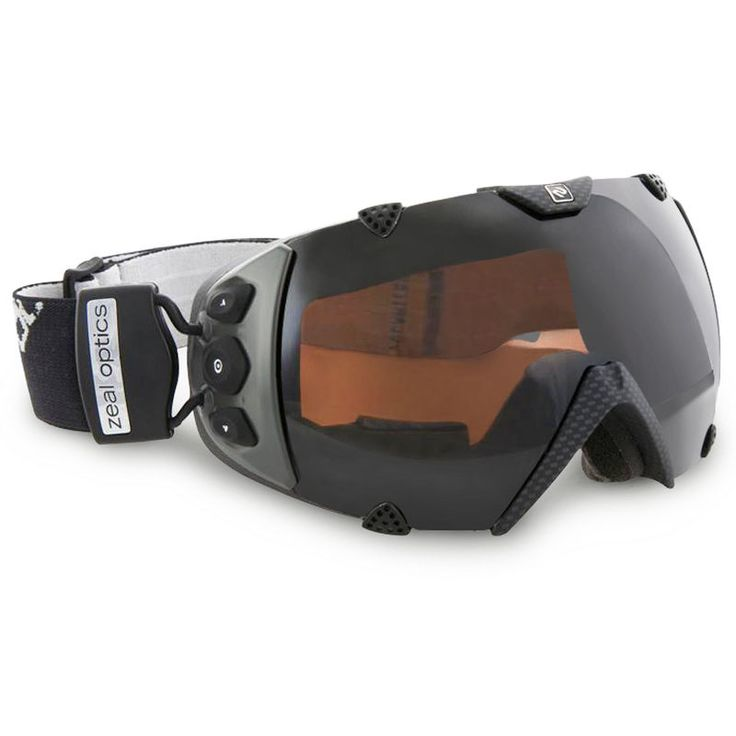GPS Ski Goggles:  tracks maximum, average, and current speed, current temperature, latitude and longitude, total vertical distance traversed, number of runs completed, and total ground covered.