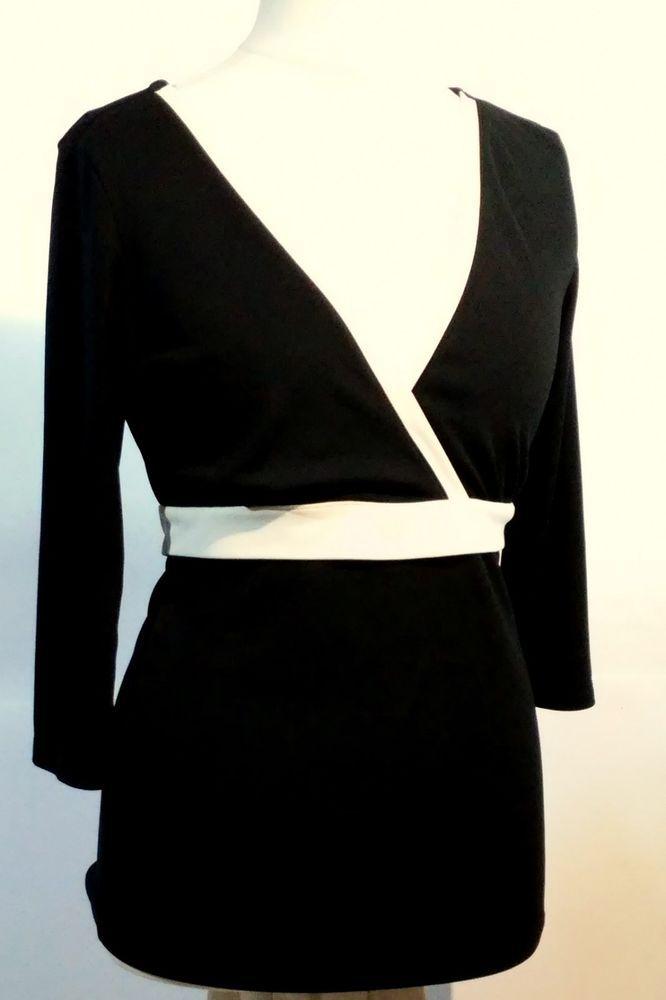 #twitter#tumbrl#instagram#avito#ebay#yandex#facebook #whatsapp#google#fashion#icq#skype#dailymail#avito.ru#nytimes #i_love_ny     New York & Company  elegant black blouse white inserts Size M,L #NewYorkCompany #Tunic #Versatile