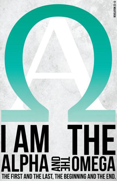 Apocalipsis 22:13 Yo soy el Alfa y la Omega, el principio y el fin, el primero y el último.♔