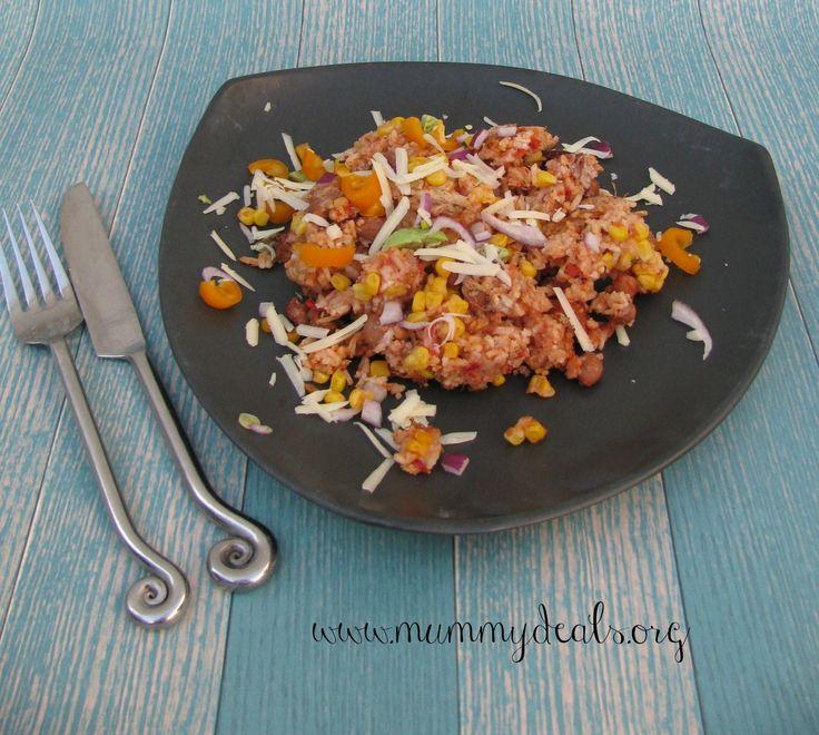 Crock Pot Burrito Bowl Recipe via Clair Boone #MerryMonday #burritobowl