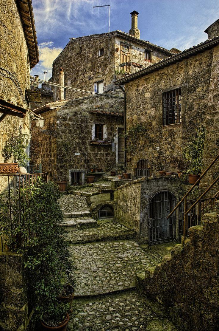 A hidden alley in Calcata, a nice small town near Roma, Italy.