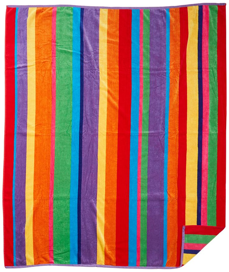 Amazon.com: Cotton Craft - Luxury Beach Towel for Two 58x68 - Beach Blanket - Summer of Siam Multi Stripe.: Home & Kitchen | @giftryapp