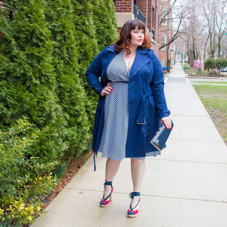 Lane Bryant x Prabal Gurung Plus Size Trench Coat and Wrap Dress