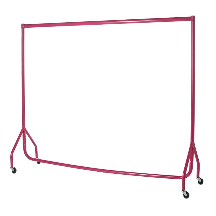 Premium Gloss Finish Clothes Rail - 6ft Wide, Pink