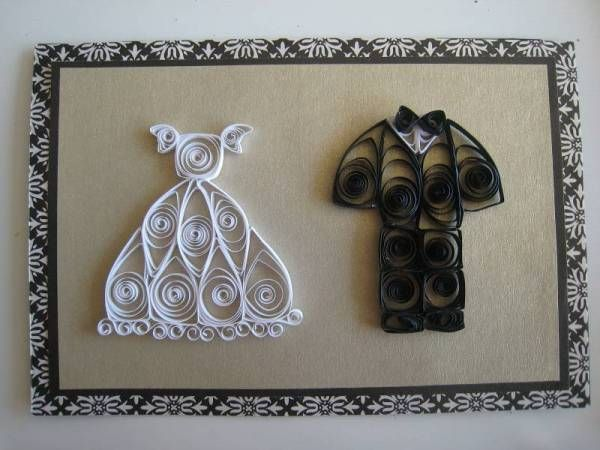 Bride & Groom - Quilled Creations Quilling Gallery