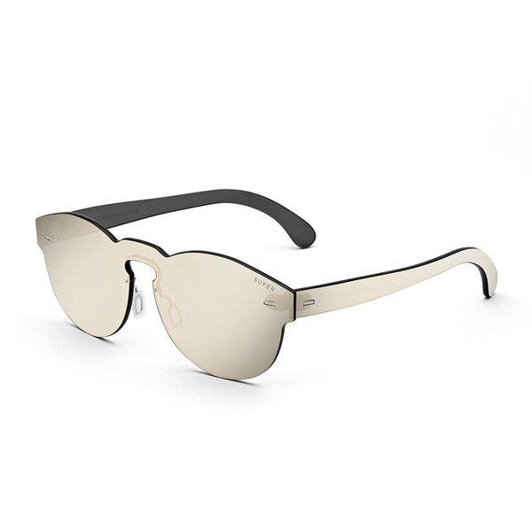 Super By Retrosuperfuture Tuttolente Paloma Unit Sunglasses ($239) ❤ liked on Polyvore featuring accessories, eyewear, sunglasses, accessories sunglasses, ivory, lens glasses, retrosuperfuture glasses, retrosuperfuture, keyhole sunglasses and retrosuperfuture sunglasses