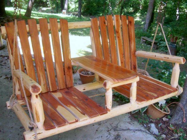 Rustic Swings Cedar Post Rustic Swing Two Seat Rustic