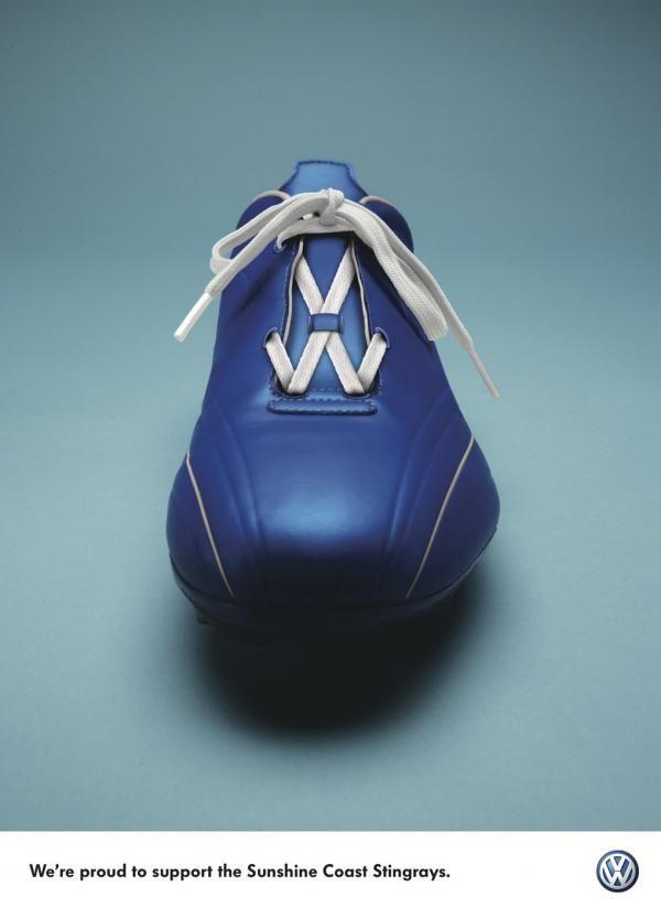 Volkswagen: Laces, VW Sponsorship, Publicis Mojo Brisbane, Volkswagen, Print, Outdoor, Ads