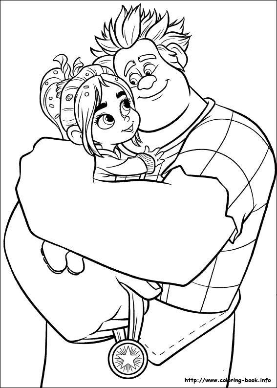 Tu cumplea os de Ralph el demoledor y Vanellope Kids parties Dibujos para colorear adultos