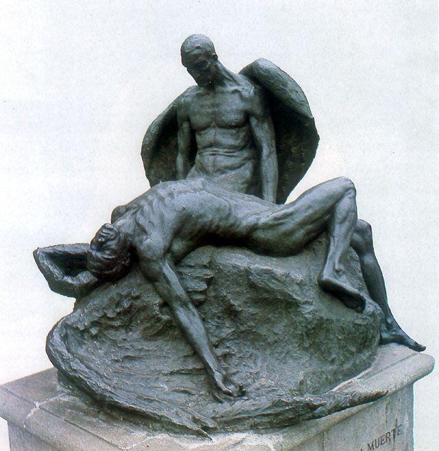 Icaro y Dedalo de Rebeca Matte, 1930, Bronce, Museo Nacional de Bellas Artes, Santiago