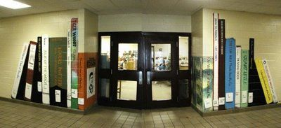 Draftophilamaniacal Neoretrography: murals - library---could use this as decor for arts night. in hallways.