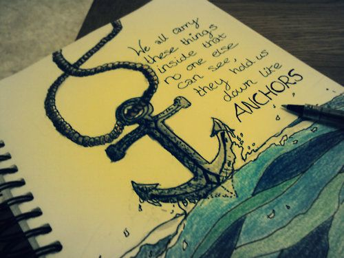 anchors.Anchors Obsession, Inspiration, Art, Things Inside, Sea, Anchors Quotes, Lyrics, Tattoo, Drawing