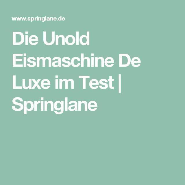 Die Unold Eismaschine De Luxe im Test | Springlane