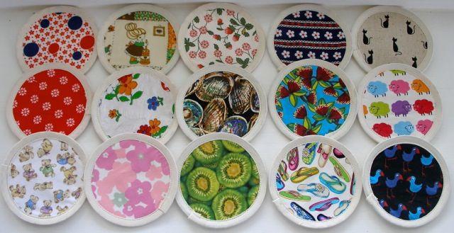a range of fabric circles